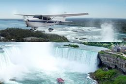 Niagara Falls Day Trip From Toronto With Tours by Airplane, Boat, Bus Plus Wine Tasting and Lunch