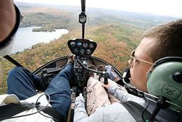 Helicopter flight over Ottawa & the Gatineau Hills