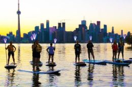Toronto Islands Stand Up Paddleboarding Nighttime Adventure