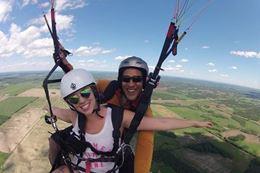 Drayton Valley Tandem Paragliding Flight, Alberta