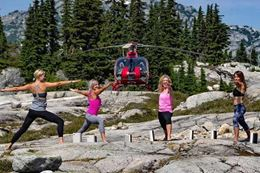 Experience breath-taking views on an exciting Whistler helicopter and alpine lake yoga class