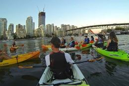 Light the Night Kayak Tour, Vancouver. A unique experience gift.