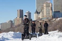 Ride a Segway on a unique Edmonton sightseeing tour in winter