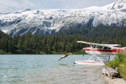 Discover the incredible beauty of British Columbia by floatplane on a scenic flight tour from Squamish with a landing at a remote alpine lake.