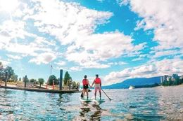stand up paddleboard (SUP) tour from Vancouver's Granville Island.
