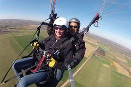 Tandem Paraglider flight over Drayton Valley, Alberta