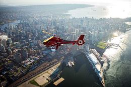Scenic views of Vancouver from a helicopter tour.