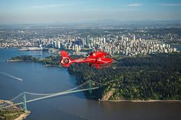Experience a unique sightseeing tour, a helicopter tour over Vancouver