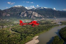 Experience a unique sightseeing tour, a Squamish helicopter tour over rivers, lakes, and mountains.