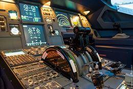Montreal Flight simulator cockpit, controls