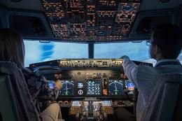 learn to fly a Boeing jet Montreal flight simulator
