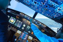 take off and landing - Montreal Flight Simulator Experience