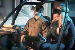 fly a helicopter in a virtual reality simulator experience, Montreal