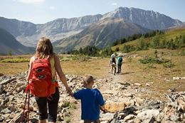 Family Survival Hike Experience in Kananaskis, Alberta.