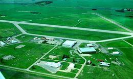 Brandon Manitoba airport view during scenic flight