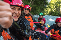 Whitewater rafting down the Green River Whistler BC.