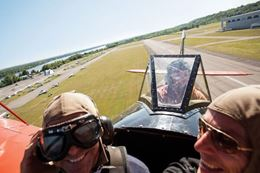 Fly in a biplane over Ottawa for a unique Ottawa sightseeing experience.