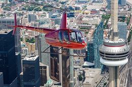 helicopter tour Toronto sightseeing near CN Tower