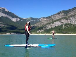 Learn to SUP with Private Group Lesson at Kananaskis, Alberta.