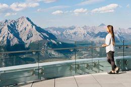 Banff  Gondola viewing platform at peak.