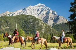 Banff horseback riding and cowboy cookout bbq