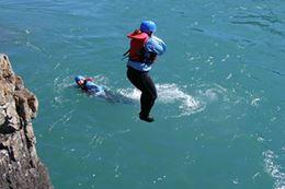 Banff White water rafting cliff jumping