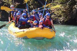 Kananaskis River Banff rafting trip for families