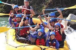 family friendly white water rafting Banff