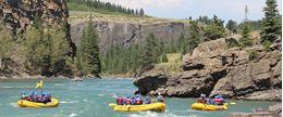 White water rafting Banff Horseshoe Canyon