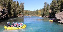 Banff rafting trip on Kananaskis River