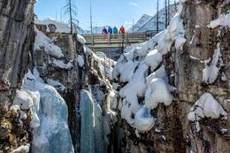 Snowshoeing Tour to Marble Canyon, Banff National Park