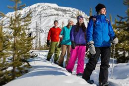 Snowshoeing Marble Canyon, things to do in Banff in winter