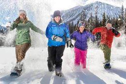 Snowshoeing Tour to Paint Pots banff winter activity