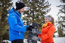 Paint Pots Snowshoeing Tour Banff in winter
