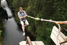 bungy jumping Nanaimo Vancouver Island