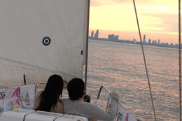 Date night experience – Sailing Toronto Wine and Cheese