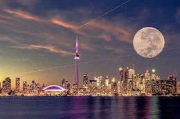 Experience sailing Toronto harbour under full moon