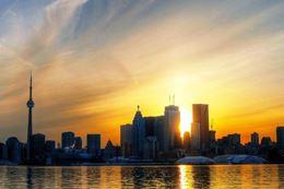 Sailing Toronto Islands at sunset