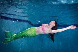 Swim like a mermaid aqua fitness class Edmonton