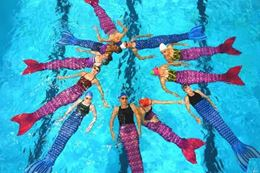 Montreal swim like a mermaid aqua fitness class
