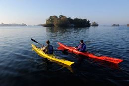 1000 Islands Frontenac Arch Biosphere Reserve guided kayaking tour.