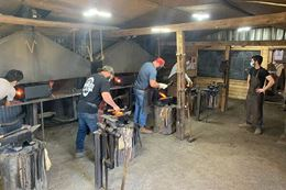 Learn to forge a steak turner. An Ottawa blacksmith class. A great experience gift.
