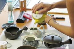 A Japanese Tea Tasting virtual class with a tea expert.