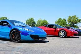Drive a Ferrari, McLaren, or Lamborghini on an autocross racing track at Maple Grove Raceway, Virginia