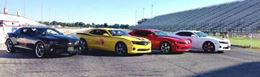Compete in single elimination bracket style drag races at Gainesville Raceway, Florida.